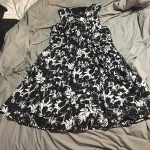 Black and White Flower Dress size 26 Lane Bryant